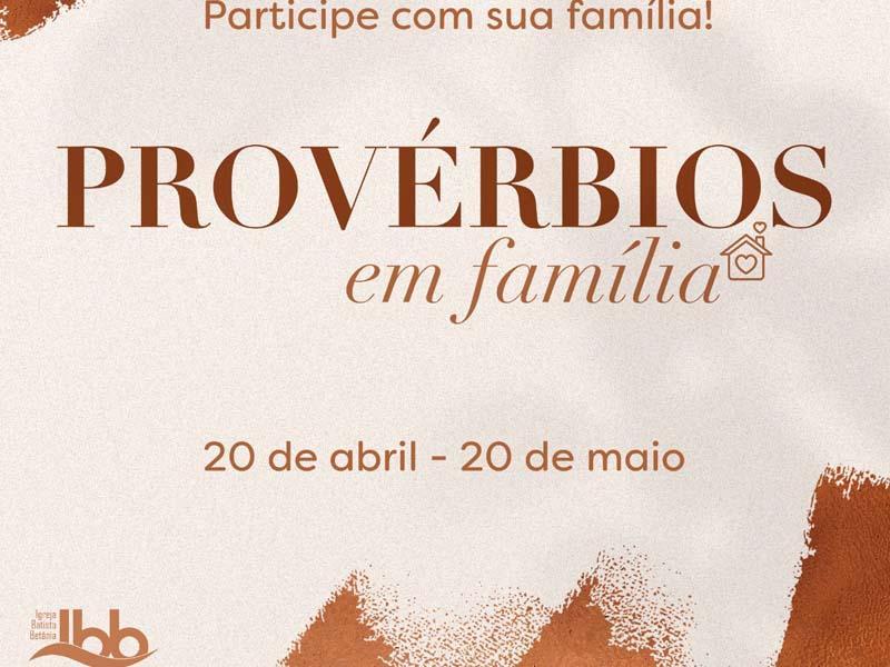 PROVÉRBIOS EM FAMÍLIA 31/31